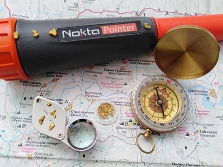 Търсене на самородно злато с пинтпонтер
